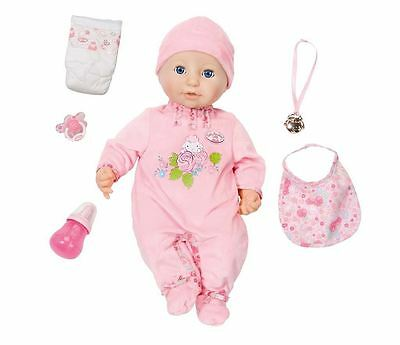 New Zapf Creation Baby Annabell Doll Interactive 46cm With Accessories