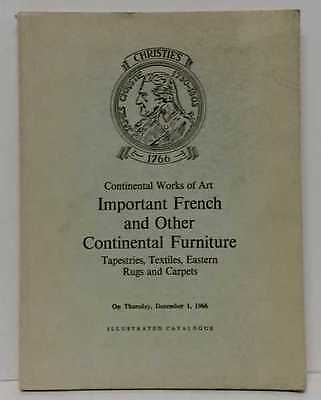 CHRISTIES Important French & Other Continental Furniture Tapestries Textiles Eas