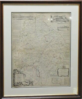 KITCHIN New and Accurate Map of Warwickshire (Original, Hand-coloured) 1760