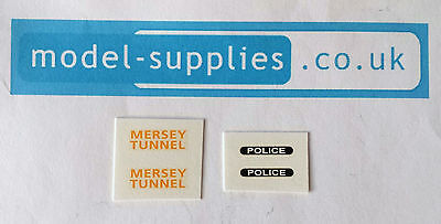 Dinky 255 Mersey Tunnel Land Rover Reproduction Waterslide Transfers Set