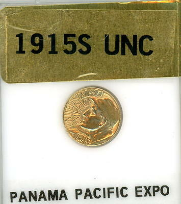 1915 S U.s. $1 Commemerative Gold Panama Pacific Expo Uncirculated-Free Shipping