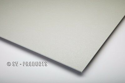 """ABS Plastic Sheet Light Gray Vacuum Forming 1/8"""" Thick 6"""" x 12"""" - 252a"""