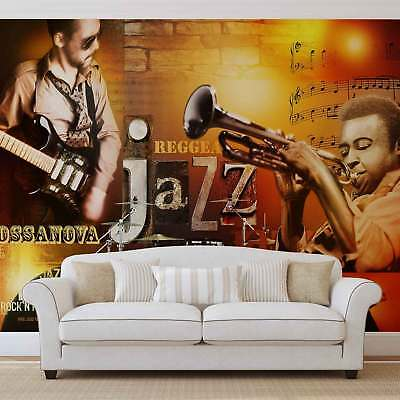 WALL MURAL PHOTO WALLPAPER XXL Jazz Retro Music Blues (060WS)