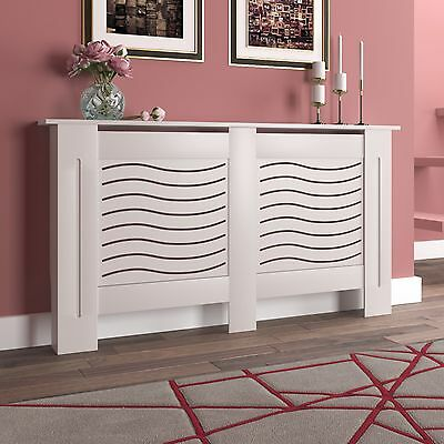 White Radiator Cover Wall Cabinet Wood MDF Painted Traditional Modern