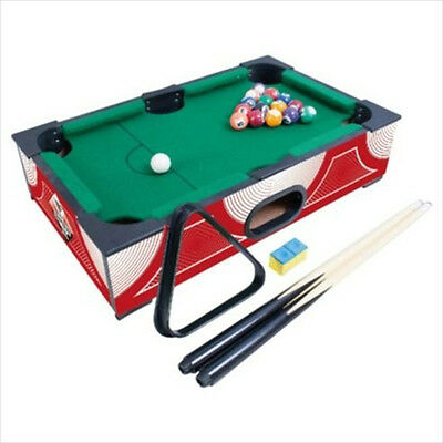 Hy-Pro Table Top Mini Pool Table American Pool Balls Cues Triangle Chalk Gift
