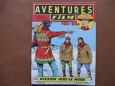 ARTIMA  :  AVENTURES-FILM n° 65 (1957) Mission vers le Nord
