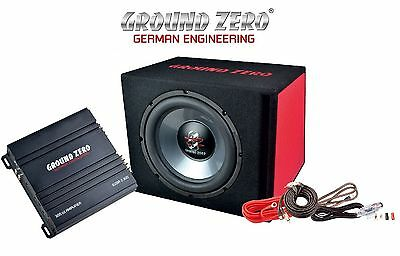 GROUND ZERO Basspack GZ BASS KIT 12.300 Subwoofer + Amplificatore + Kit Cavi