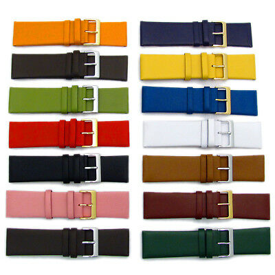 Fine Calf Leather Watch Strap Band 14 Colors! 22mm 24mm 26mm 28mm 30mm
