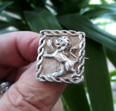 Attractive Vintage Scottish Silver Lion Iona style Celtic Brooch c.1940s