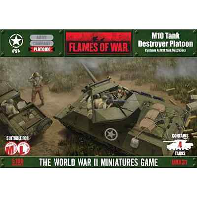 FLAMES of WAR: M10 Tank Destroyer Platoon (contains 4 tanks)