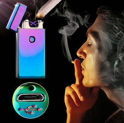 Newest USB Rechargeable Electric Lighter Double Arc Pulse Flameless Plasma Torch