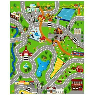 Large City Kids Playmat Toys Boys Rug Play Mat Road Farm Children Toy XL Carpet