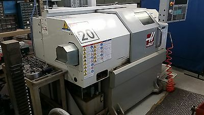 Used Haas GT-20 CNC Turning Center Gang Tool Lathe 8 Pos Turret Collet Chuck '07