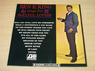 EX/EX !! Ben E King/Sings For Soulful Lovers/1966 Atlantic Mono LP/Plum Label