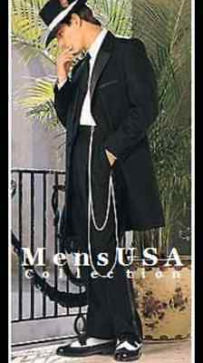 5 Piece Black Zoot Suit Formal Quality Prom Party Wedding (choose size)