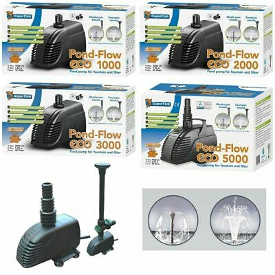 Superfish Pond Pump Flow Eco Fountain & Waterfall Filter Low Energy 1000-5000lph