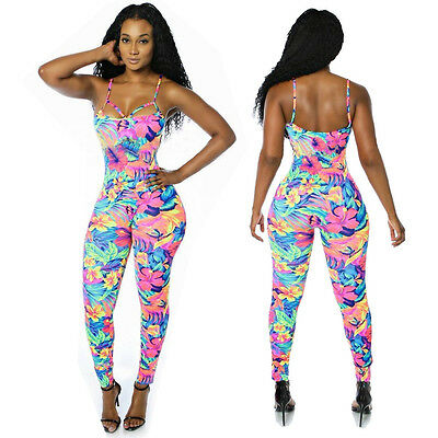 Women Clubwear Playsuit Bodycon Party Jumpsuit Romper Trousers Long Pants