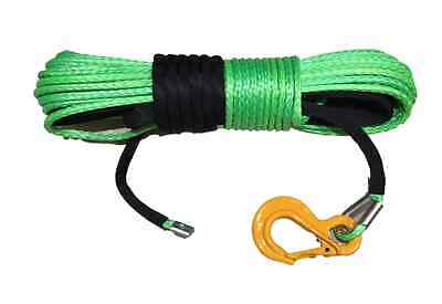 100 ft 8mm Synthetic Winch Rope Dyneema SK75 Suits self recovery 4x4