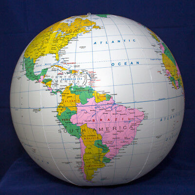36'' Blue Political Globe Great for Classroom FREE SHIPPING
