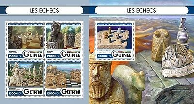 Z08 IMPERFORATED GU16504ab GUINEA (Guinee) 2016 Chess MNH Set