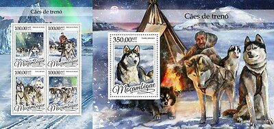 Z08 MOZ16321ab MOZAMBIQUE 2016 Sledge dogs MNH Set