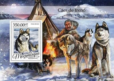 Z08 MOZ16321b MOZAMBIQUE 2016 Sledge dogs MNH