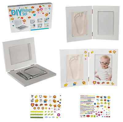 Double Sided Molding Imprint Hand or Foot of Baby Picture Frame 2 Side Frame New