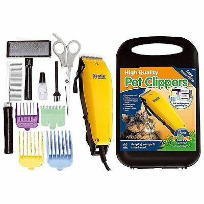 Professional 11pc Pet Dog Clippers Grooming Kit Animal Hair Trimmer Clipper New