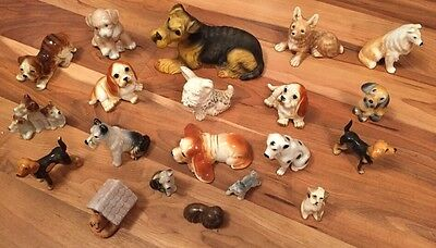 Great Collection Of 20 Vintage Ceramic Dog Figures