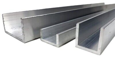 U CHANNEL ALUMINIUM CHANNELS Extrusions VARIOUS SIZES 2 M LONG