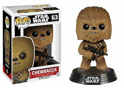 Funko Pop Star Wars Force Awakens Chewbacca Bobble-head Vinyl Figure Toy #63