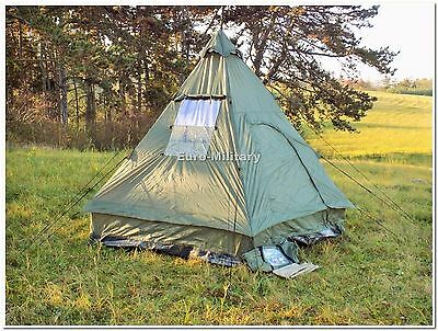 Military&Outdoor Four Man Pyramid Tipi Tent Camping Hunting Waterproof Shelter