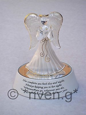 Glass@GUARDIAN ANGEL@LIGHT-CHANGING@RELIGIOUS GIFT@22Ct Gold@WHITE Blessing SET