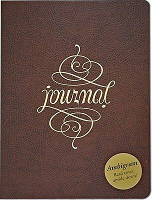 Ambigram Leather Journal Notebook Diary Diary