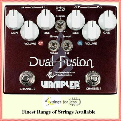 Wampler Tom Quayle Dual Fusion Overdrive Guitar Effects Pedal