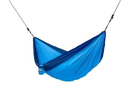 Chillax Blue Parachute Double Travel Hammock In Carry Bag. Camping