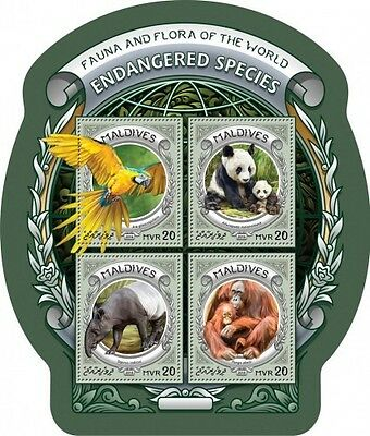 Z08 MLD16609a MALDIVES 2016 Endangered species MNH