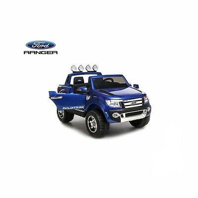 Licensed Ford Ranger 12v Kids Electric Ride on Car With Remote - Metallic Blue