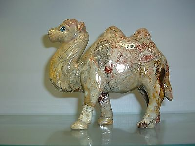 Camel Figurine Carved From Soap Stone Sculpture From Peru