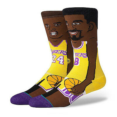Kobe Bryant Stance NBA Retirement Collection Faces Crew Socks