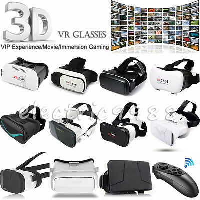 VR Box Headset Universal 3D Virtual Reality Glasses+Bluetooth Remote Xmas For LG