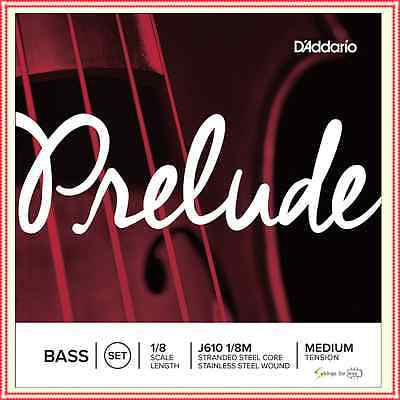 D'Addario Prelude Double Bass String Set, 1/8 Scale, Medium Tension J610