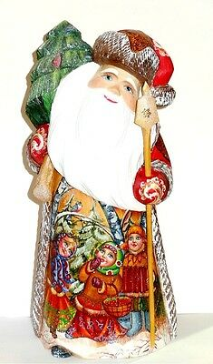 Collectible Carved Russian Santa