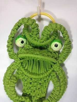 Vintage Green Frog Macrame Retro Home Decoration