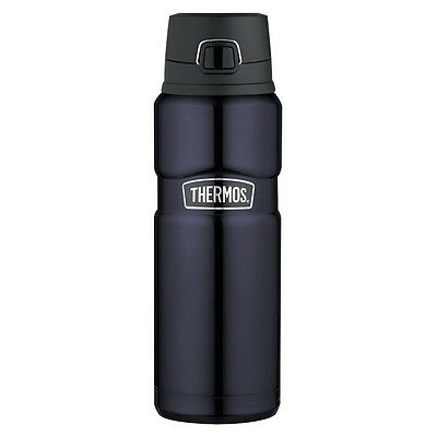 NEW Thermos Stainless Steel Midnight Blue Vacuum Bottle 710ml