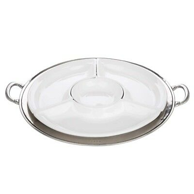 NEW Match Pewter Round Sectional Serving Platter