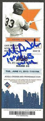 Michael Wacha Ip Auto Signed 1St Mlb Win Ticket W Insc Cardinals Vs Mets 6/11/13