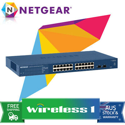 NETGEAR 24 Port Prosafe Gigabit Smart Switch GS724T v4