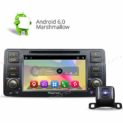 "Camera+ Head Unit 7"" Android 5.1 Car DVD GPS Player CD 3G for BMW 3 Series E46 G"