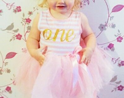 """Baby Birthday Dress - """"One"""" & """"Two"""""""